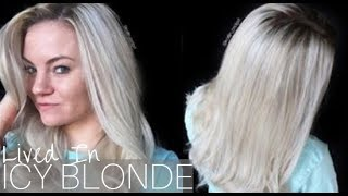 Icy Blonde Hair Tutorial    Rooted Hair Color