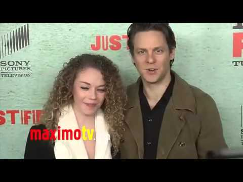 Jacob Pitts and Shelby Malone JUSTIFIED Season 4 Premiere Red Carpet
