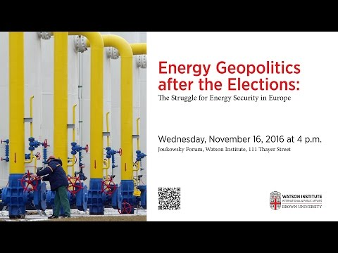Energy Geopolitics after the Elections: The Struggle for Energy Security in Europe
