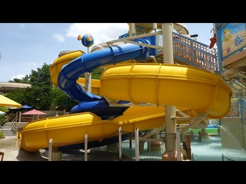 Wet 'n Wild Orlando - Yellow Kids' Slide | Blastaway Beach Area