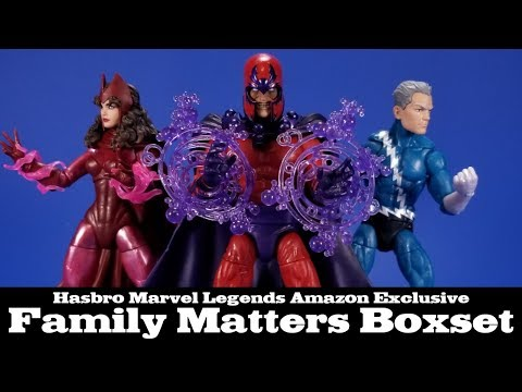 Marvel Legends Family Matters Amazon Exclusive Magneto, Scarlet Witch, Quicksilver Review and Tweaks