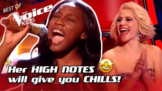 Wow! 14-Year-Old BELTS out awesome HIGH NOTES in The Voice Kids! 🤩