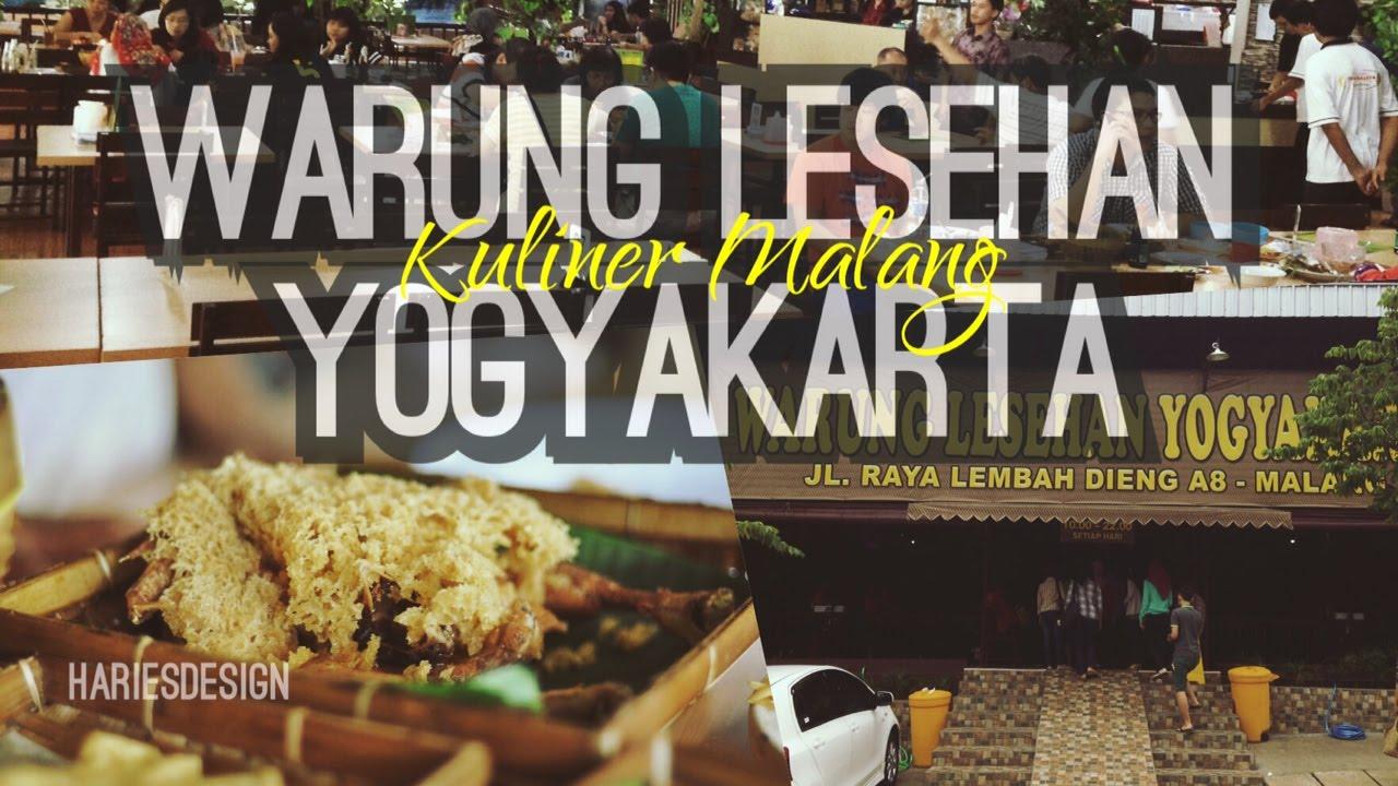 Warung Lesehan Yogyakarta Wisata Kuliner Lembah Dieng Malang Youtube