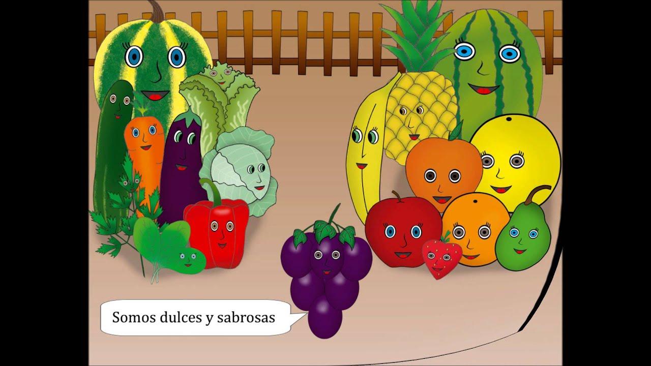 Frutas y verduras para nios  YouTube