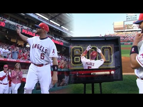 SEA@LAA: Angels recognize Pujols for 600 home runs