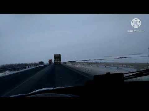 Видео из трёх поездок в мороз на \