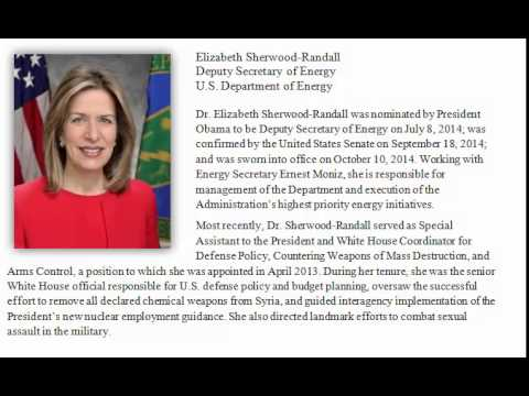 Deputy Energy Secretary Elizabeth Sherwood-Randall