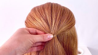 Прическа на длинные волосы Пучок