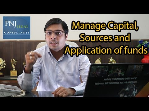Manage Capital, Sources and Application of funds
