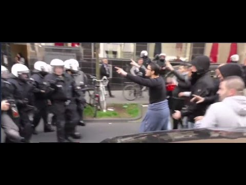 Kurds clash  Pro erdogan Turks in 5 cities in Germany 18 injured , 24 arrested