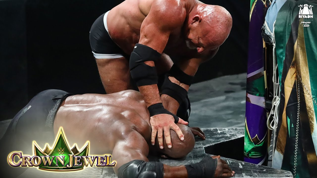 Download Goldberg drops Bobby Lashley with a mighty Jackhammer: WWE Crown Jewel 2021 (WWE Network Exclusive)