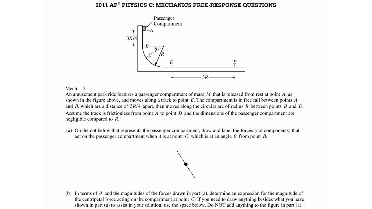 2011 ap physics c mechanics free response answers