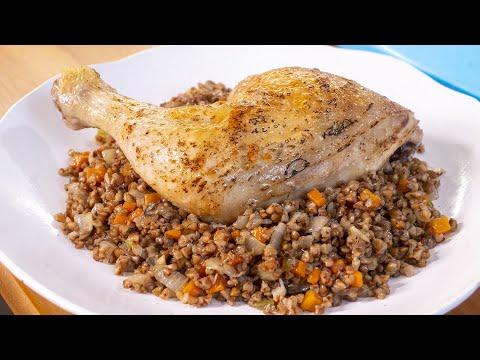 Блюдо для богачей, которые скупили всю гречку. Курица с вкусной гречкой на ужин.