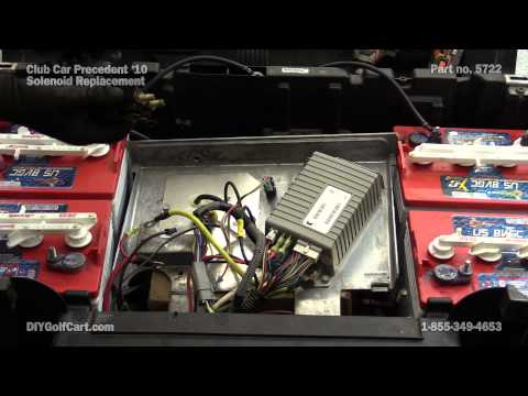 club car precedent 48 volt solenoid | how to replace on golf cart - youtube  youtube