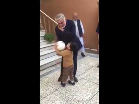 Dr Abdullah Abdullah playing football with a kid, must see video