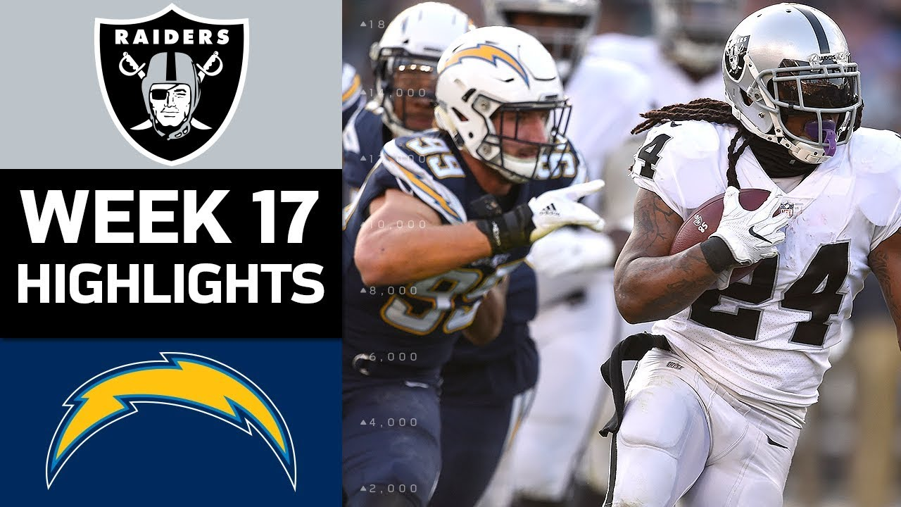 1bd4a186 Raiders vs. Chargers | NFL Week 17 Game Highlights - YouTube