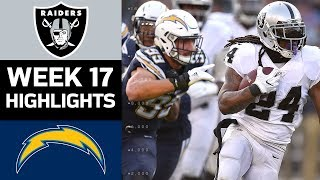 Raiders vs. Chargers | NFL Week 17 Game Highlights