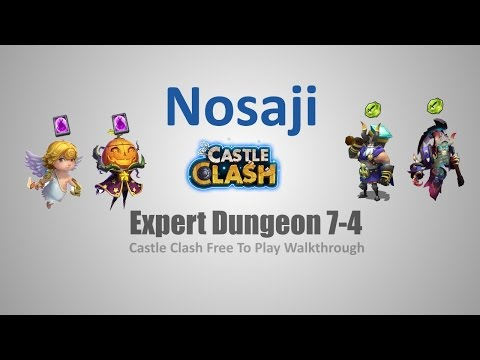 Castle Clash: Expert Dungeon 7-4 F2P Walkthrough