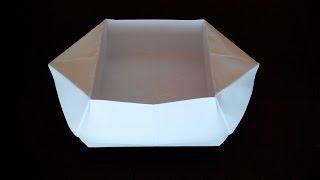 как сделать из бумаги кормушку