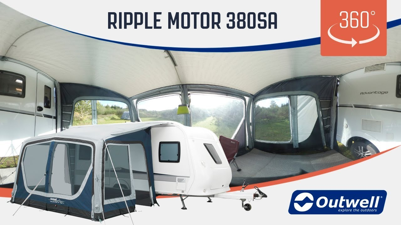 Outwell Ripple Motor 380sa Motorhome Air Awning 360 Video 2019 Youtube