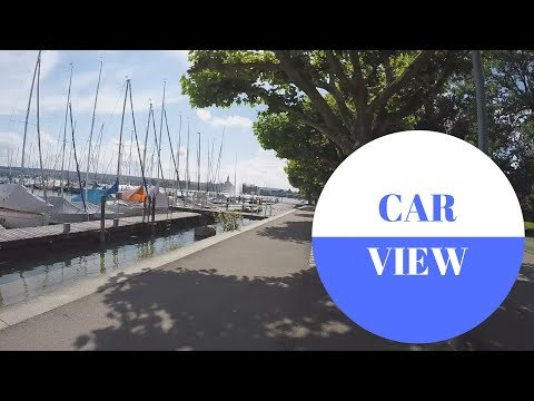 CAR VIEW: Konstanz am Bodensee in GERMANY