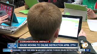 SD Unified to transition to online classes in April