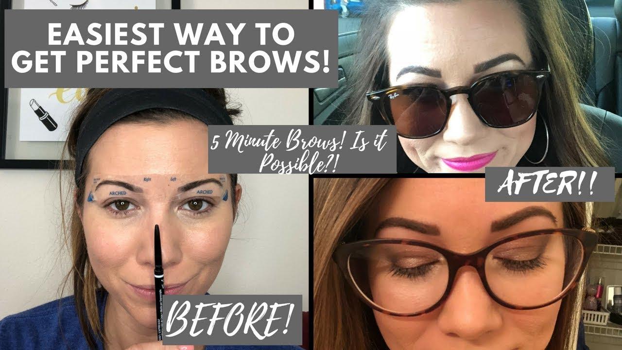Best Stick On Eyebrow Stencil Fran Wilson Stencil Brows Youtube