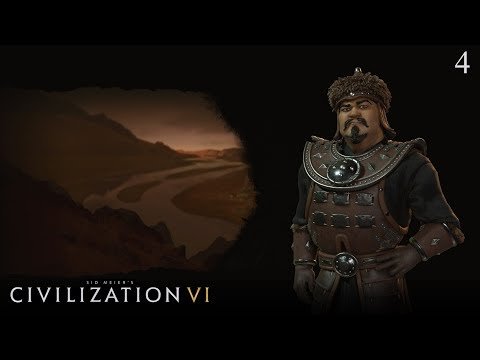 Civilization VI: Rise and Fall - Let's Play as Mongolia #4 (Deity)