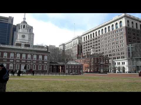 Old City hall, Independence hall, Congress hall in Philadelphia