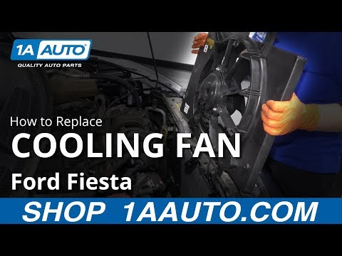 How to Replace Radiator Cooling Fan Assembly 11-17 Ford Fiesta