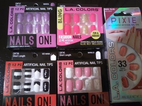 Family Dollar Press On Nails Review And Tutorial  😍