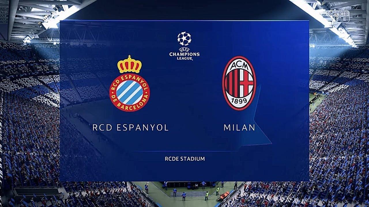 FIFA 19 Champions League: RCD Espanyol vs AC Milan (Cuartos de final ...