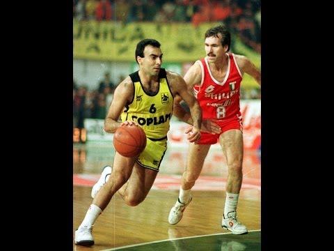 Aris - Philips Milano 95-77 European Cup Champions 4/1/90 ΕΡΤ