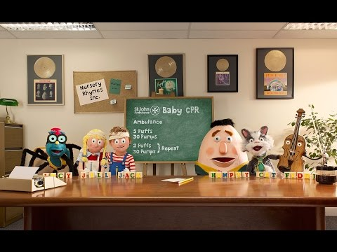 St John Ambulance Nursery Rhymes Inc. Baby CPR Song (Extended) - First Aid Advice