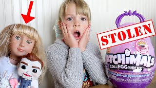 Villains The Doll Maker & Benson Steal our Hatchimals! My PB and J