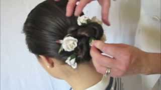 Tutorial: How-to use silk flowers to accessorize a Special Event hairstyle