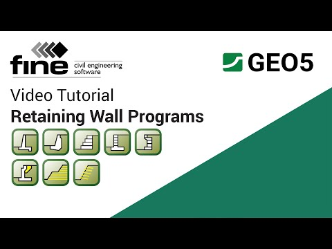GEO5 Tutorials: Introduction to Retaining Wall Design