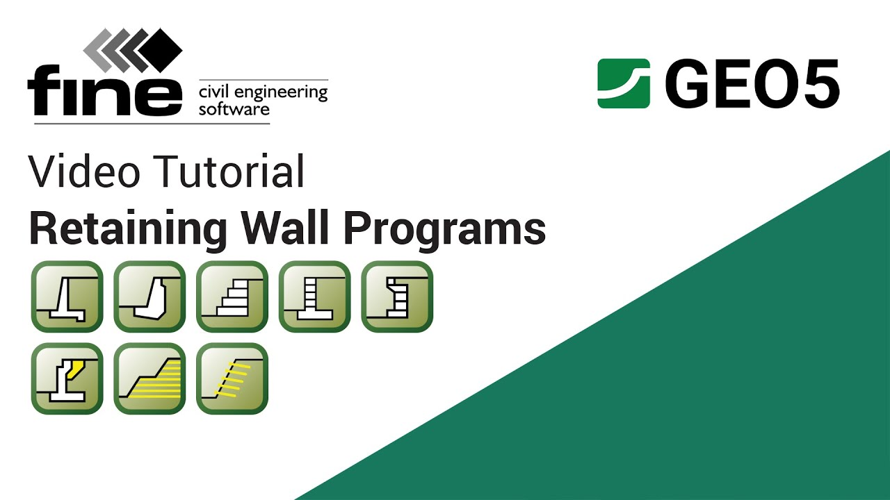 GEO5 Tutorials Introduction to Retaining Wall Design Programs