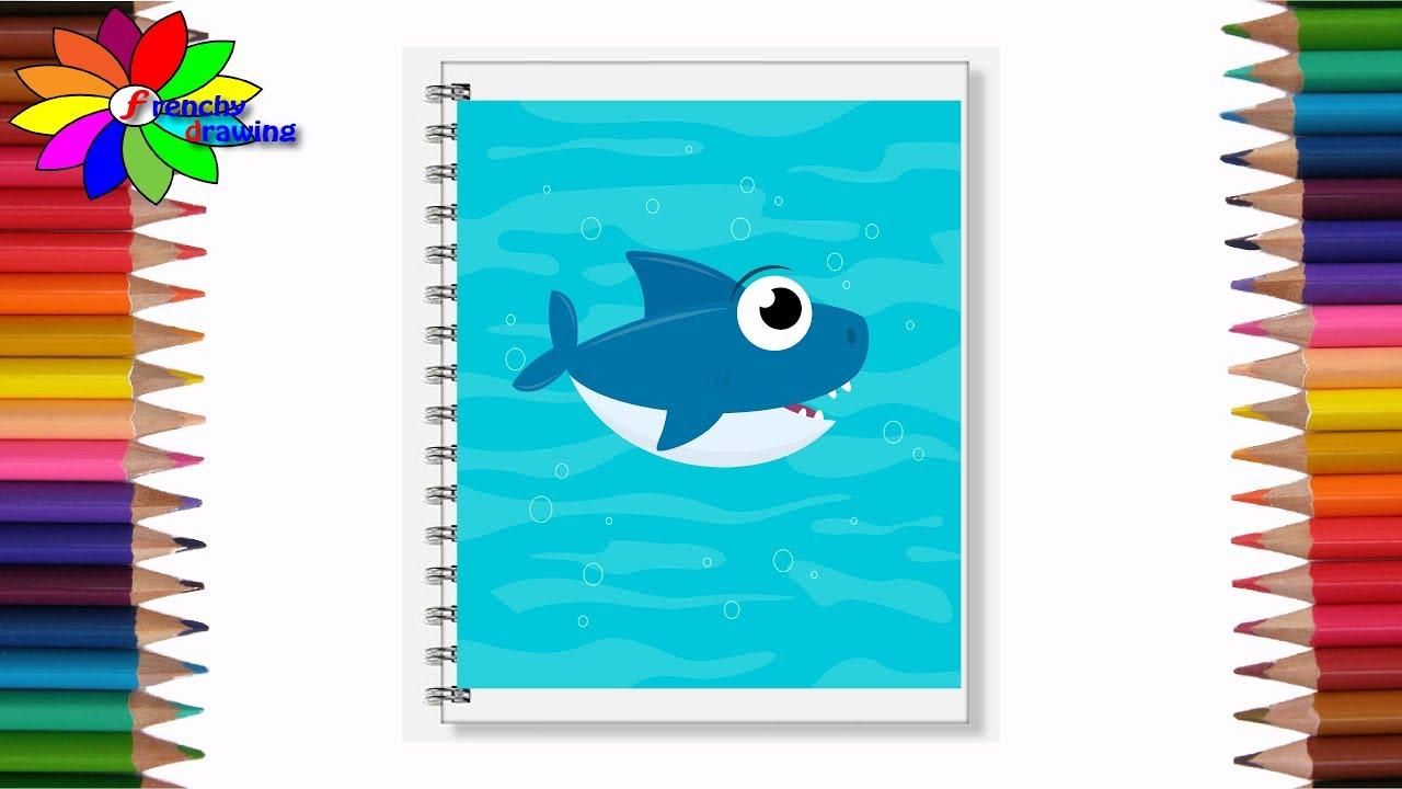 رسم و تزين دفتر المدرسة تزين دفتر المدرسة برسم سمكه مع #فرنشي