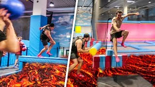 BODEN IST LAVA TRAMPOLIN PARCOURS CHALLENGE!
