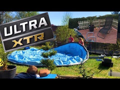 intex-ultra-xtr-frame-rondo-20ft-x-48in,-610cm-x-122cm+-pool-deck-construction,-pool-terrasse-aufbau