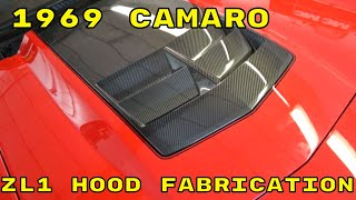1969 Camaro Custom Carbon Fiber Hood Fabrication
