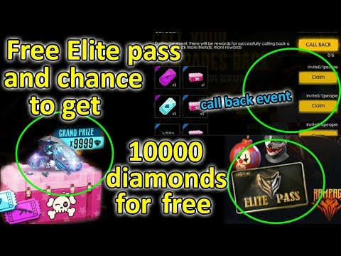 Free fire free elite pass and free diamonds tricks tamil | Call back event tricks