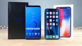 Galaxy S9 plus Vs Iphone X CAMARA Y POTENCIA