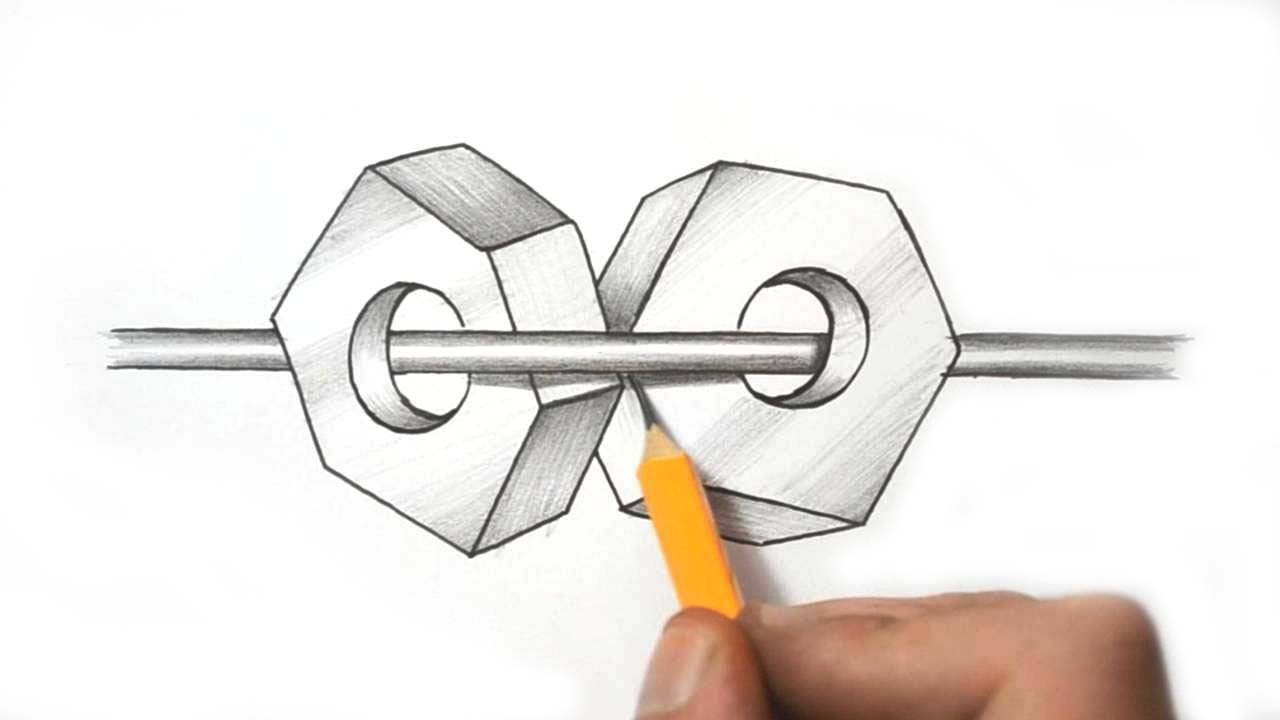 Scribble Drawing Objects : Impossible drawings illusions pixshark images