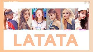 [COLOR CODED/THAISUB] (G)I-DLE - LaTaTa #พีชซับไทย