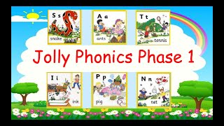 Jolly Phonics Phase 1 -S,A,T,I,P,IN -Review with Songs, Vocabulary, & Interesting activities.