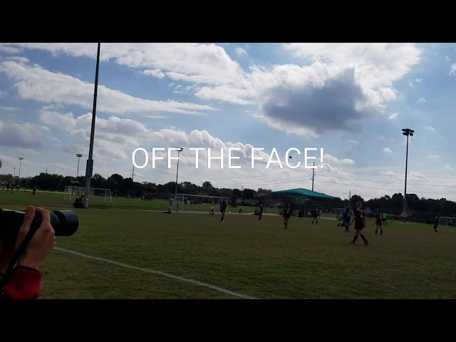 Soccer Ball Off the Face