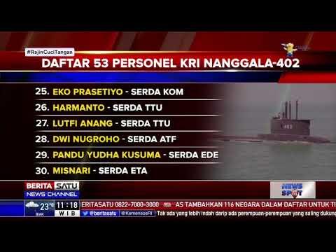 Daftar 53 Personel KRI Nanggala-402