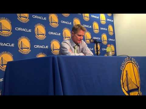 Steve Kerr jokes about who else can provide David West